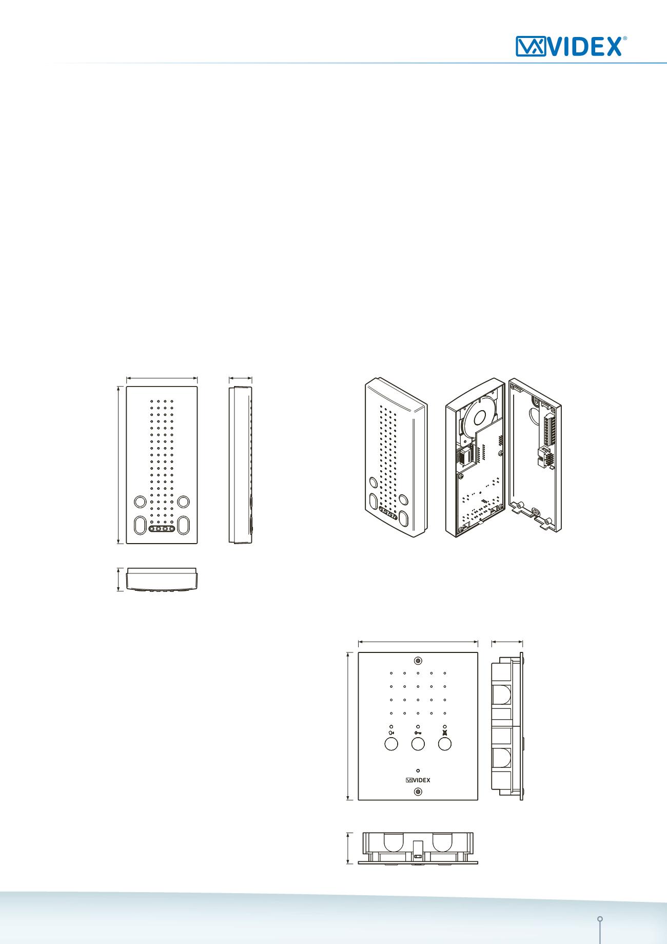 Nouveau-Videx 8901//S Surface Monté dur filaire clavier-VX8901S